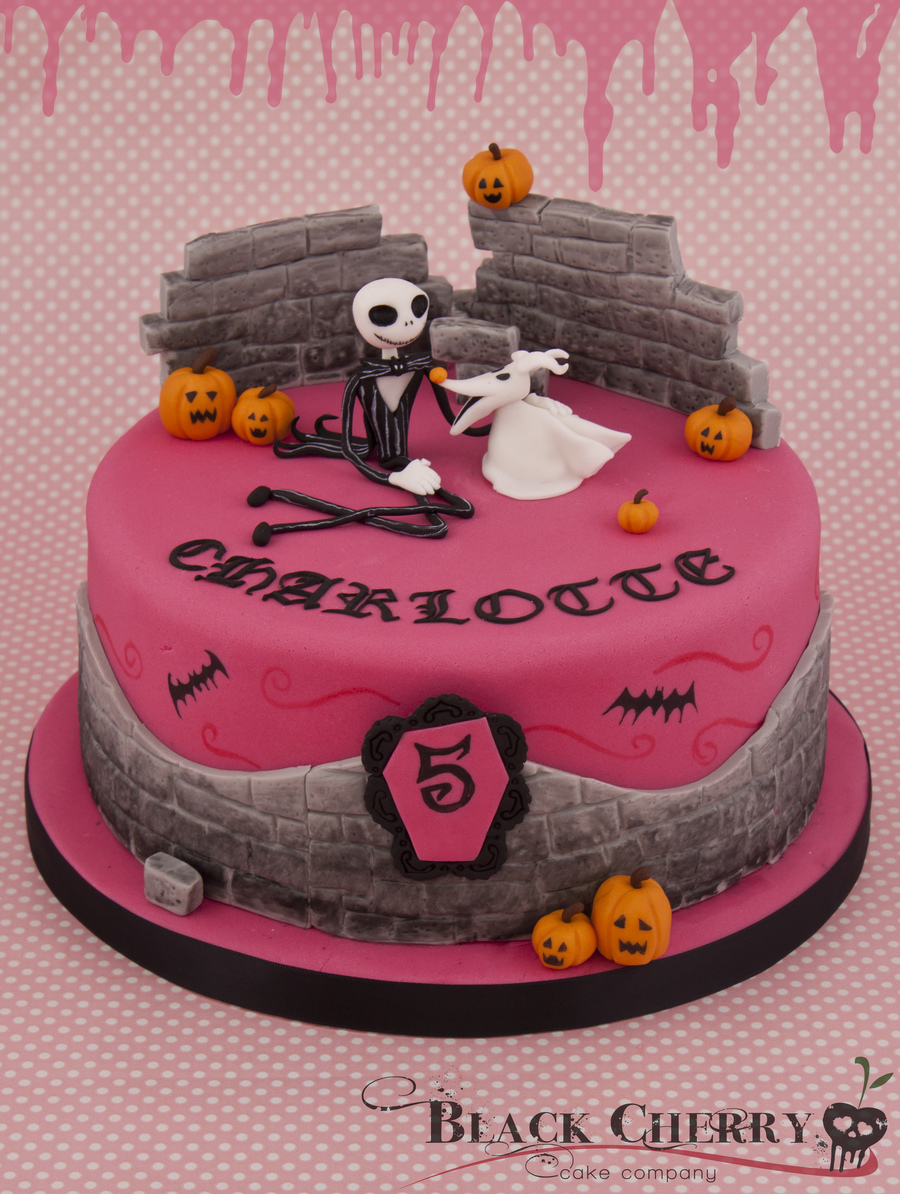 Girly Nightmare Before Xmas Cake  on Cake Central