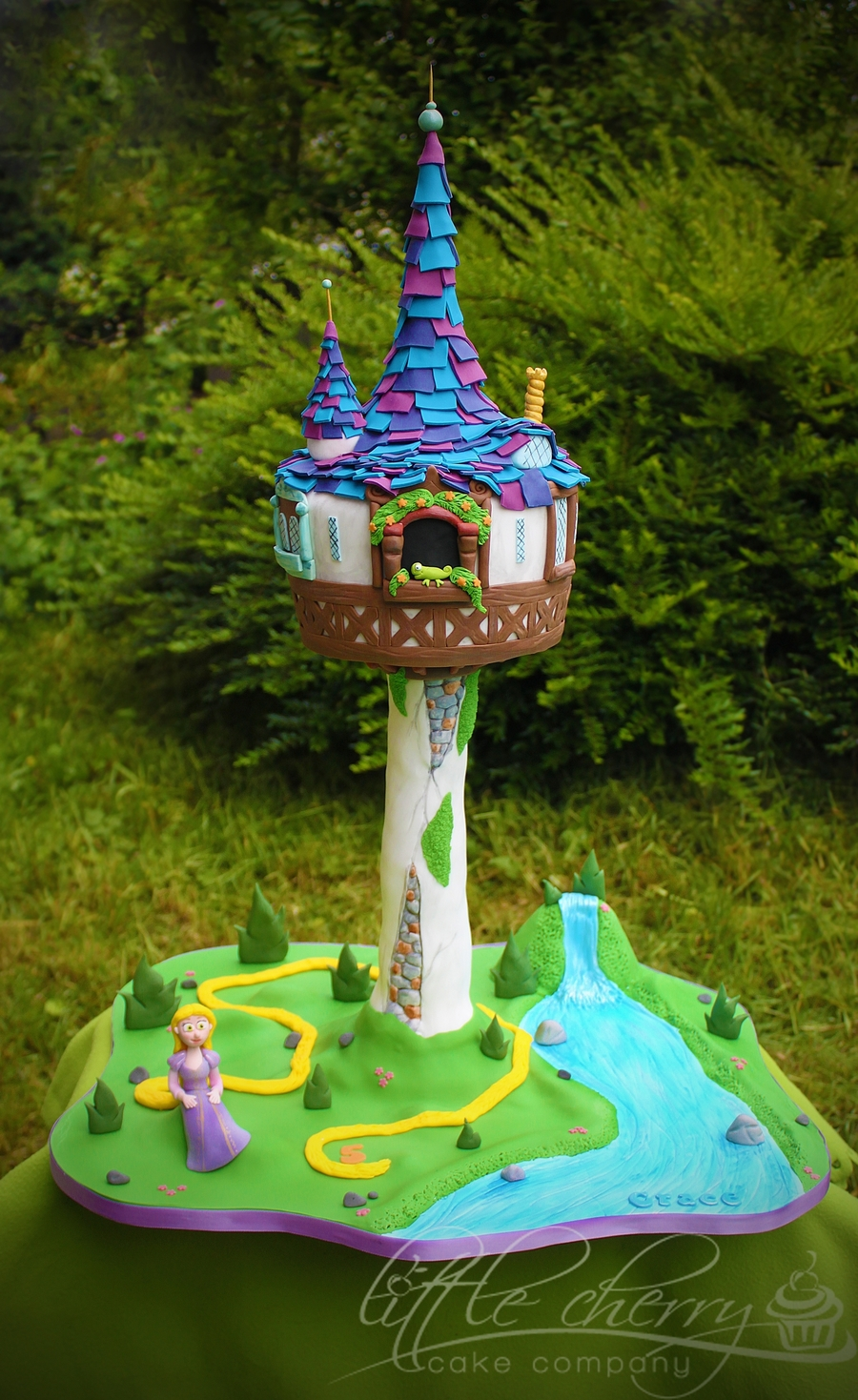 Tangled Tower Cake on Cake Central