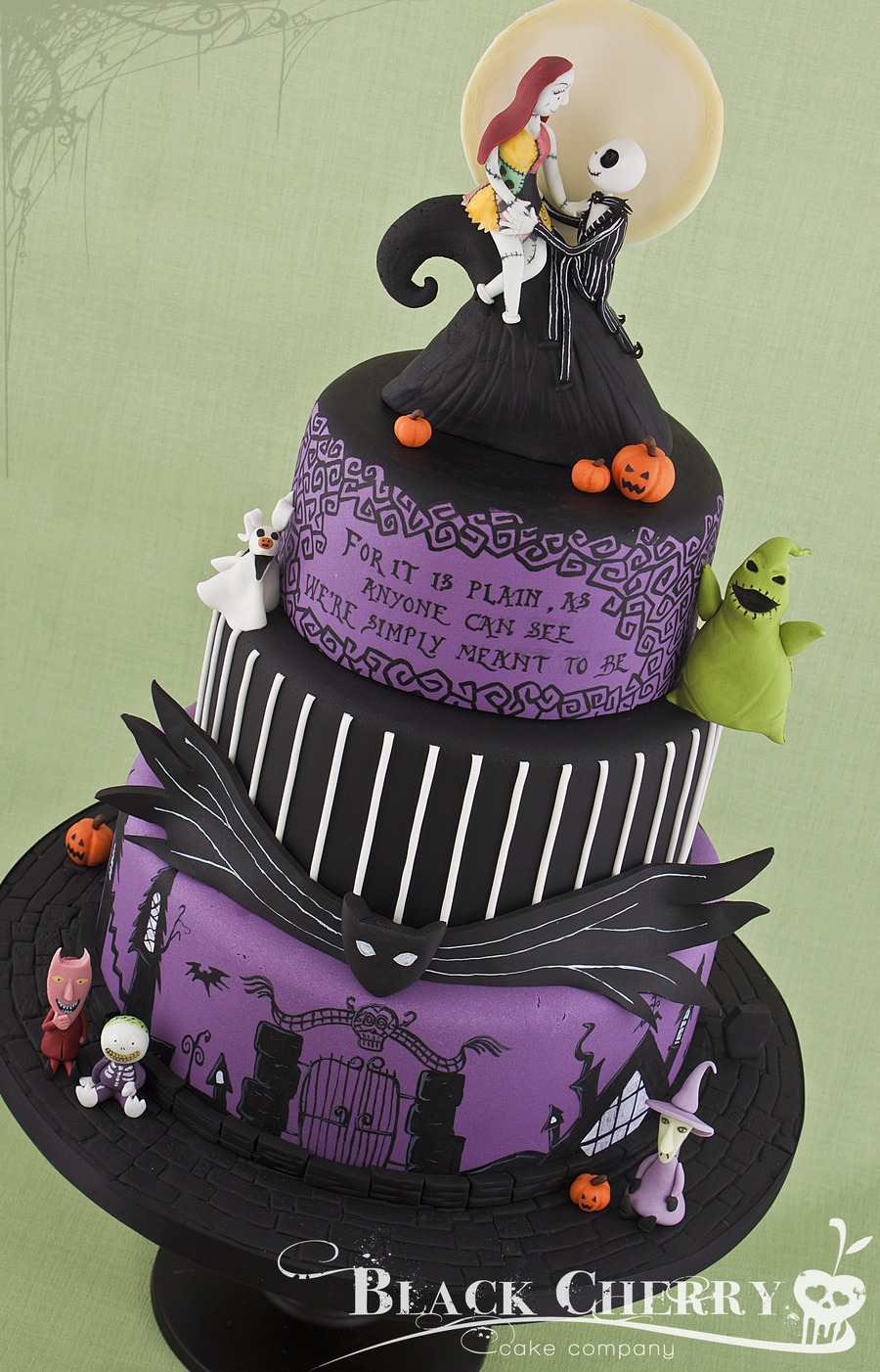 Jack Sally Nightmare Before Christmas Wedding Cake Topper