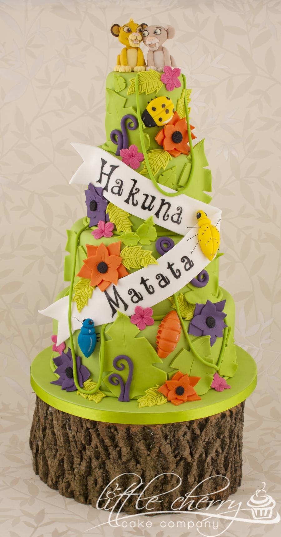 Lion King Hakuna Matata Wedding Cake CakeCentralcom - Lion King Wedding Cake
