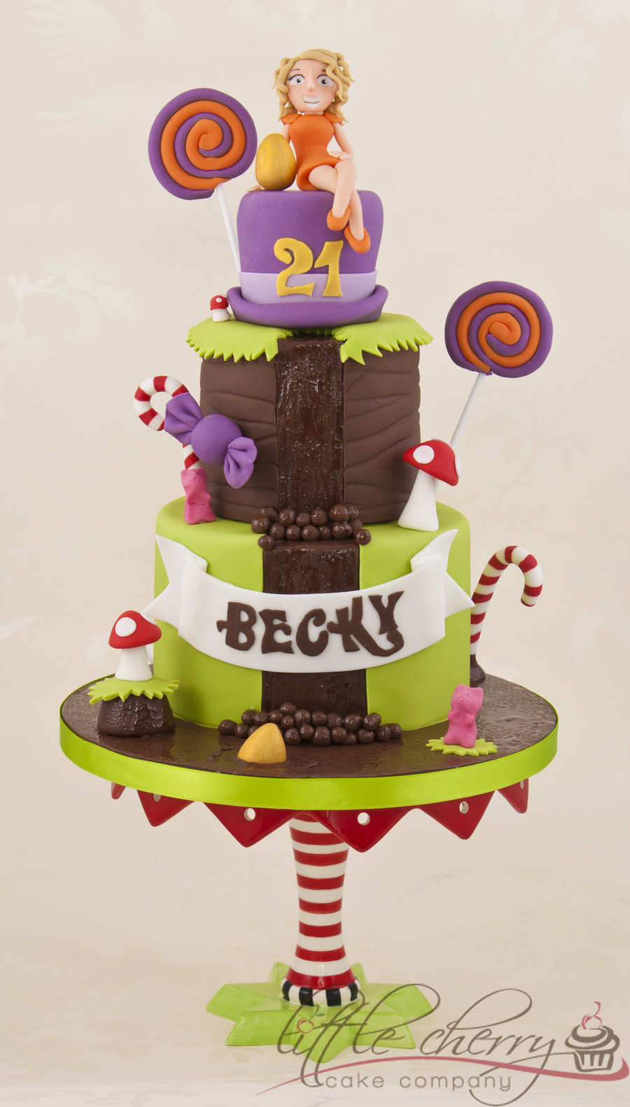 Charlie And The Chocolate Factory / Willy Wonka Cake  on Cake Central