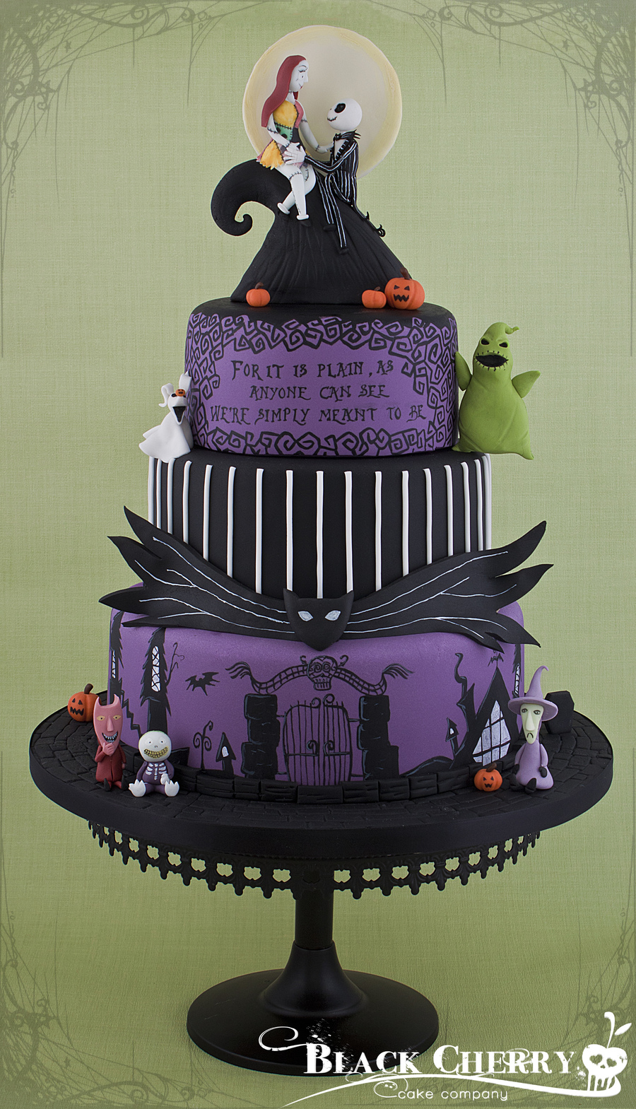 Nightmare Before Christmas Wedding Cake - CakeCentral.com