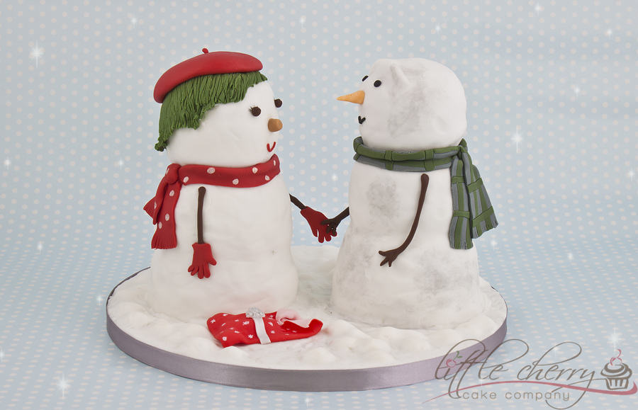 John Lewis Snowmen (The Journey) In Cake!  on Cake Central