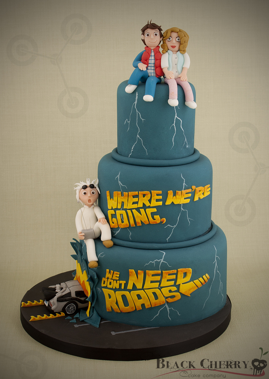 Back To The Future Wedding Cake on Cake Central