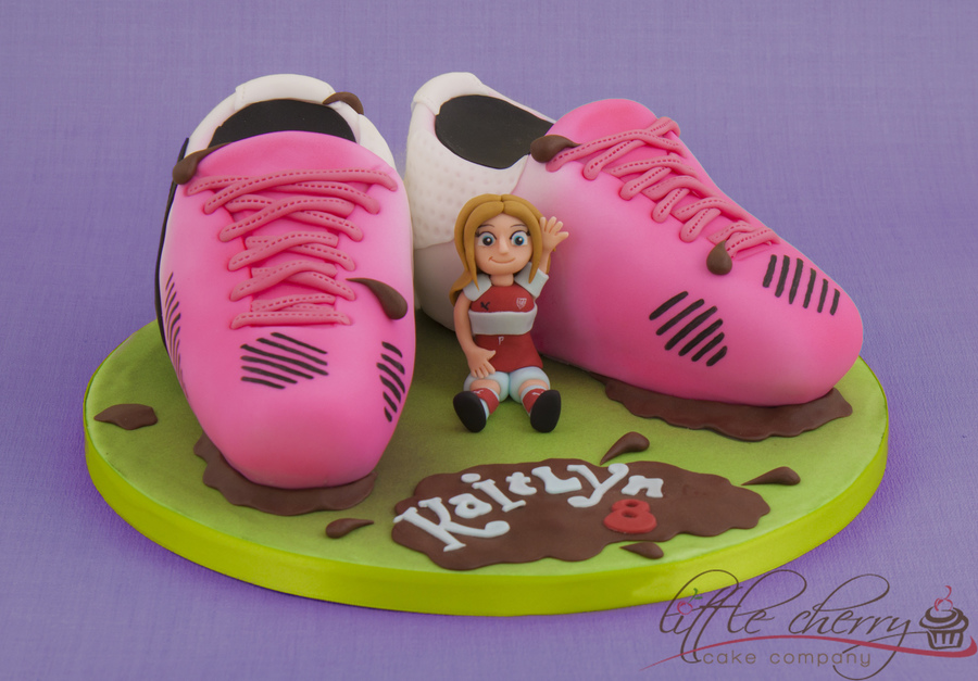 Pink Football Boots on Cake Central
