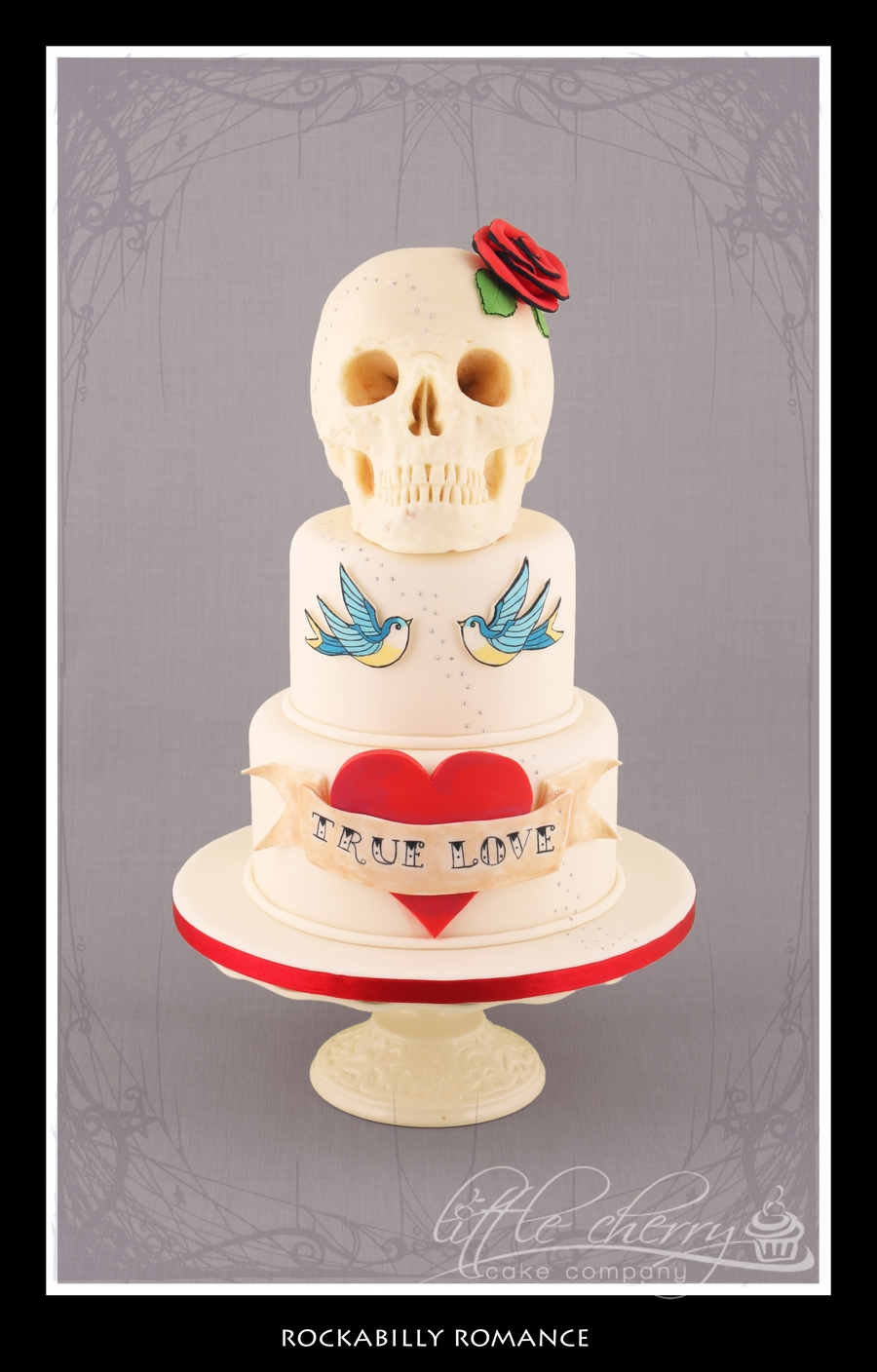 Rockabilly Romance Wedding Cake on Cake Central