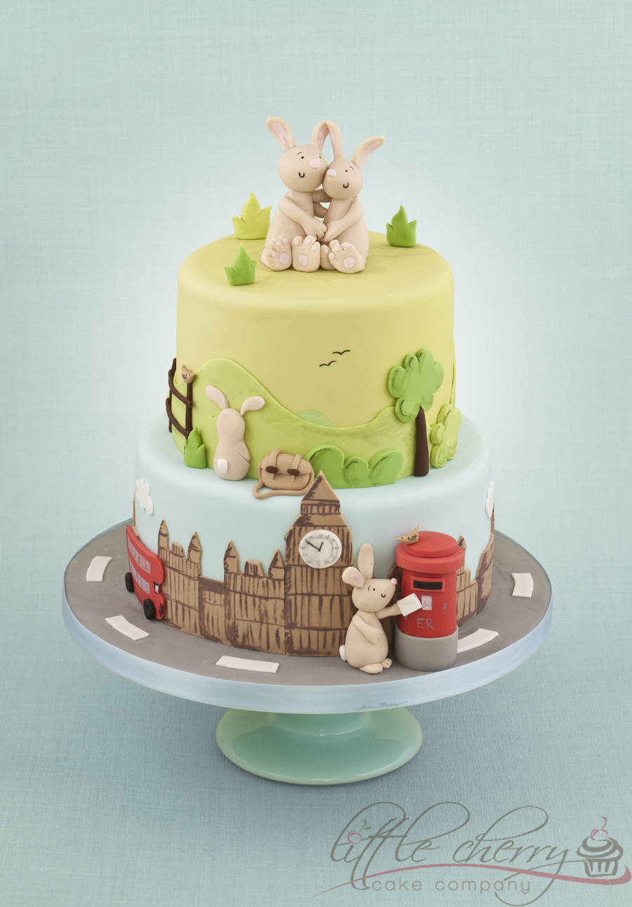 Rabbit Wedding Cake - CakeCentral.com