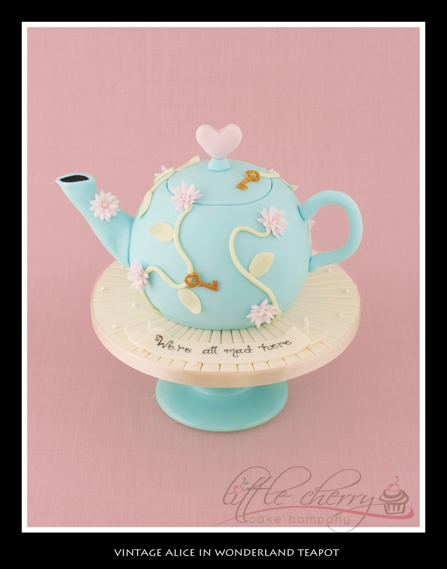 Vintage Alice In Wonderland Cake Topper For A Cupcake Tower on Cake Central
