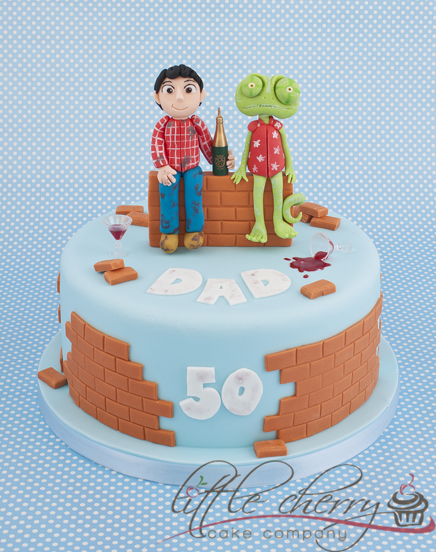 Rango And The Builder Cake on Cake Central