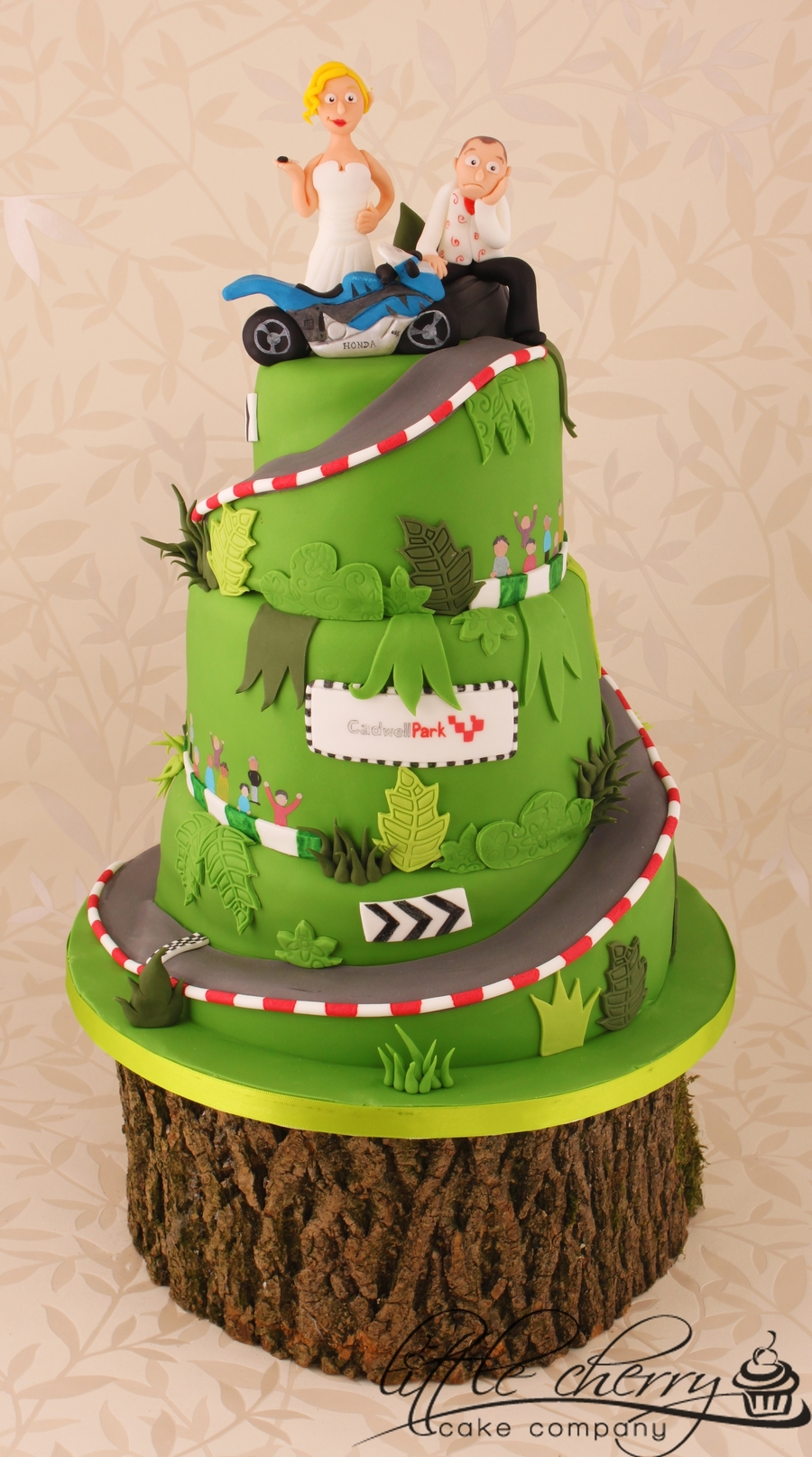 Cadwell Racetrack Wedding Cake on Cake Central