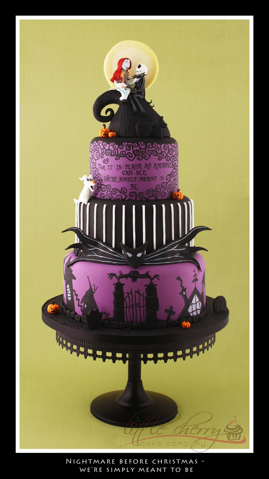 jack sally nightmare before christmas wedding cake topper nightmare before wedding cake cakecentral 16562