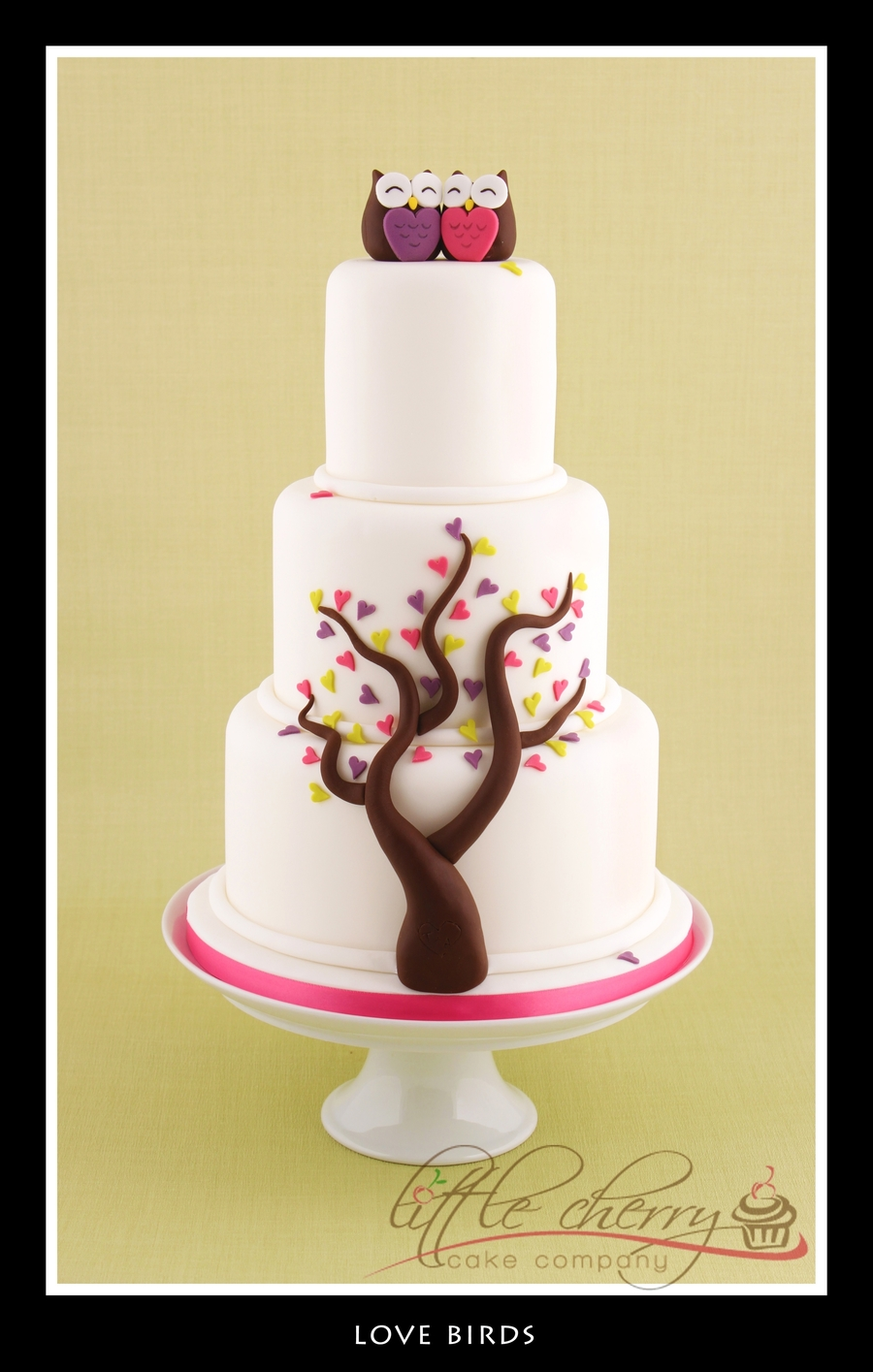 Love Birds Wedding Cake on Cake Central