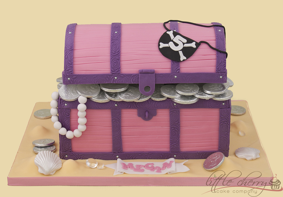 Pink And Purple Treasure Chest Cake on Cake Central