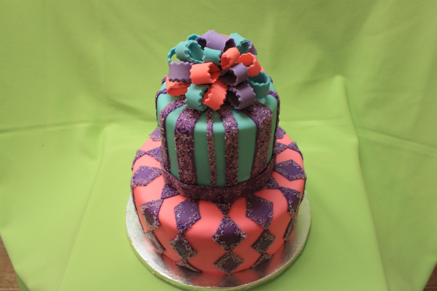 Argyle And Stripes on Cake Central