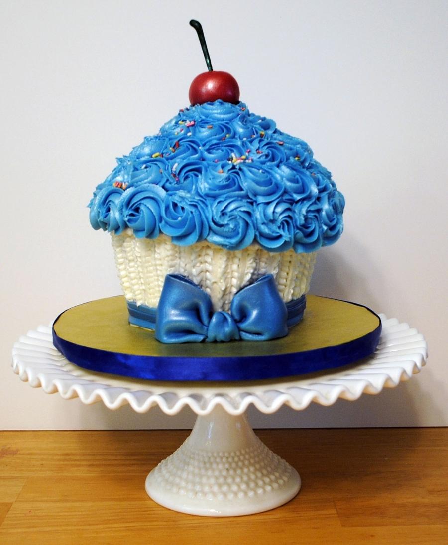 Giant Cupcake Cake Cakecentral Com