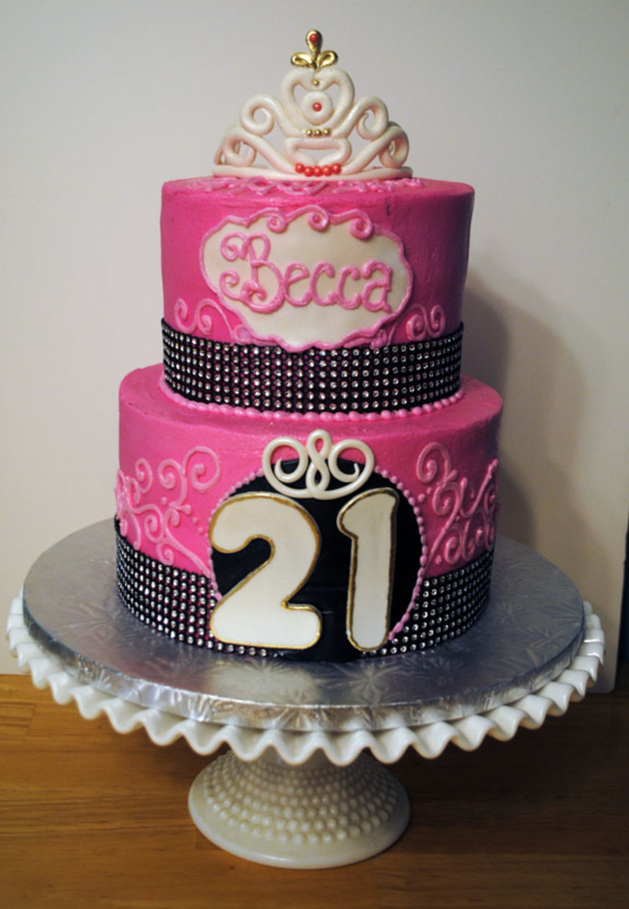 Enjoyable 21St Birthday Cake 8 With 6 On Top Frosted In Buttercream With Funny Birthday Cards Online Overcheapnameinfo