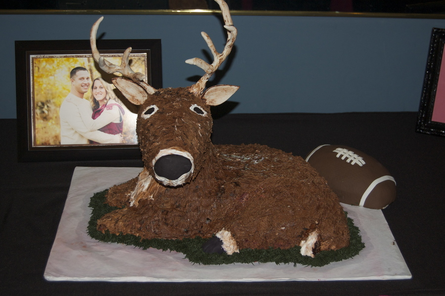Deer And Football Fan Grooms Cake on Cake Central