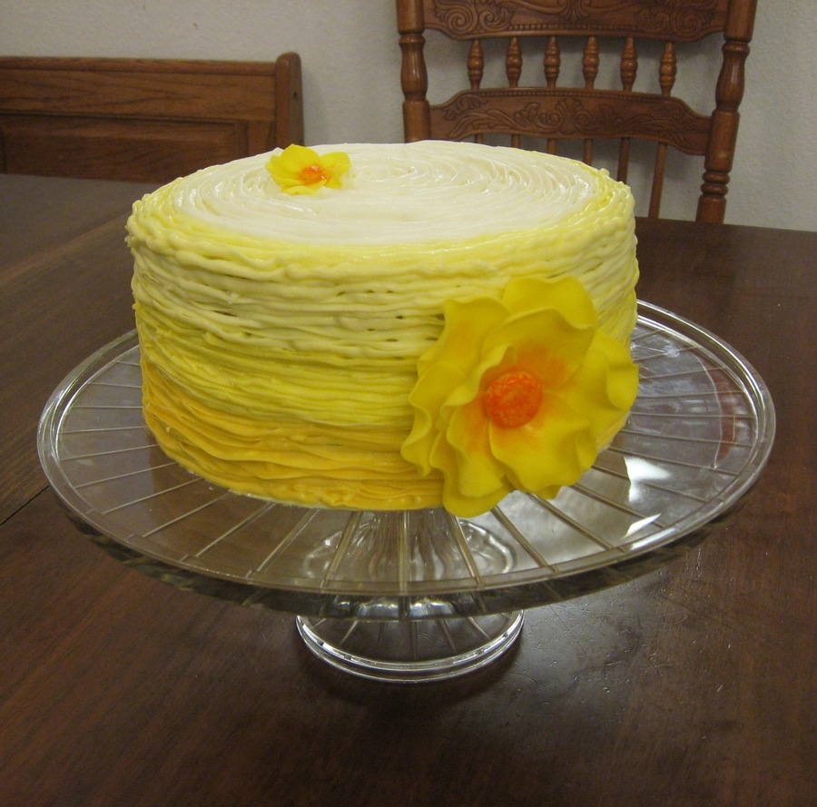 Yellow Texture  on Cake Central