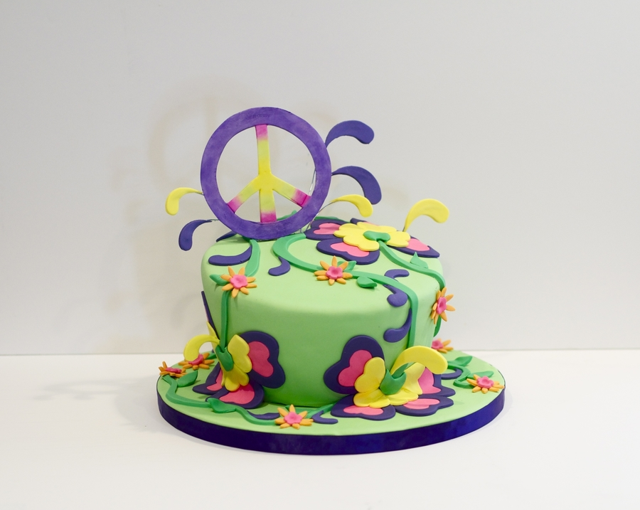 Peace, Love And Happy Birthday! on Cake Central