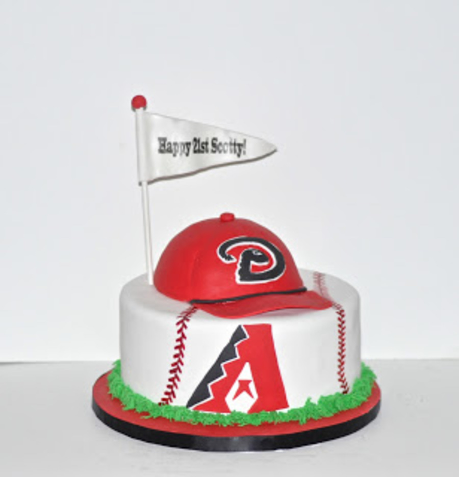 Diamondbacks Baseball Birthday Cake on Cake Central