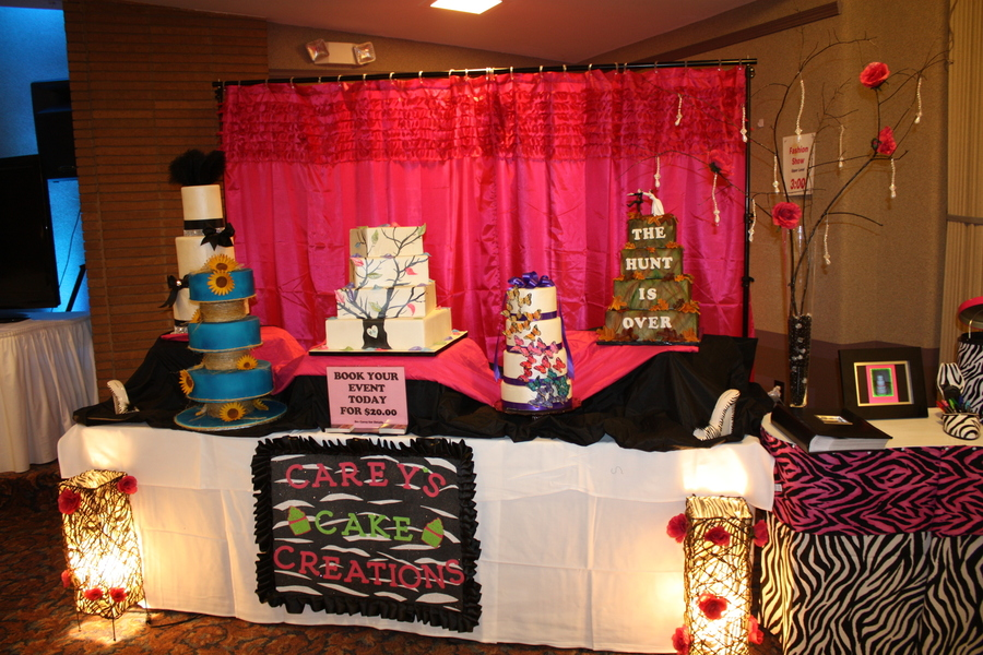 Bridal Show Booth Set Up From This Weekend Hope It Inspires A Few on Cake Central