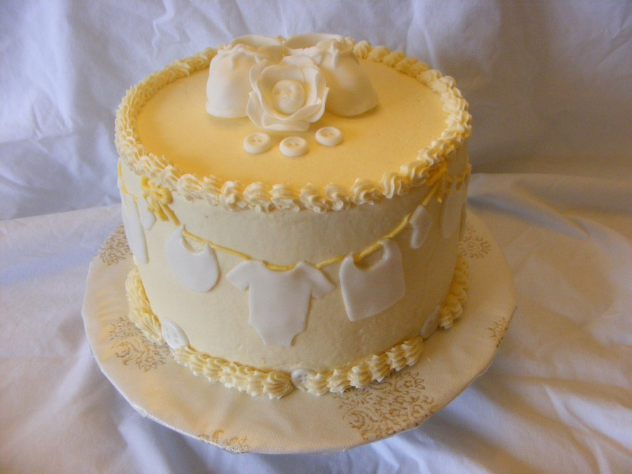 Clothesline Baby Shower Cake Cakecentral Com
