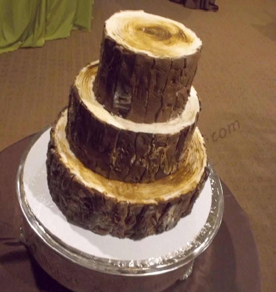 Log Wedding Cake on Cake Central