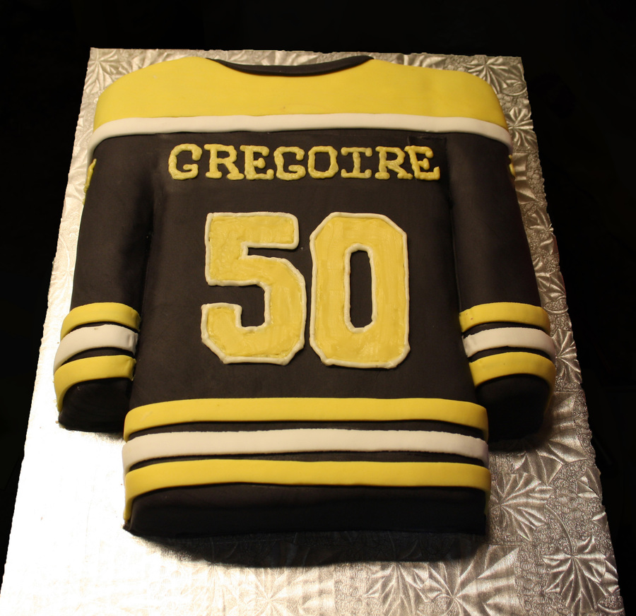 Boston Bruins Hockey Jersey Cake Back Cakecentral Com