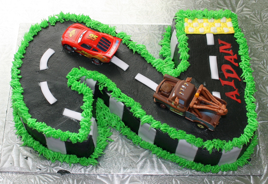 Number  Two Cars Birthday Cake CakeCentralcom - Birthday cake cars 2