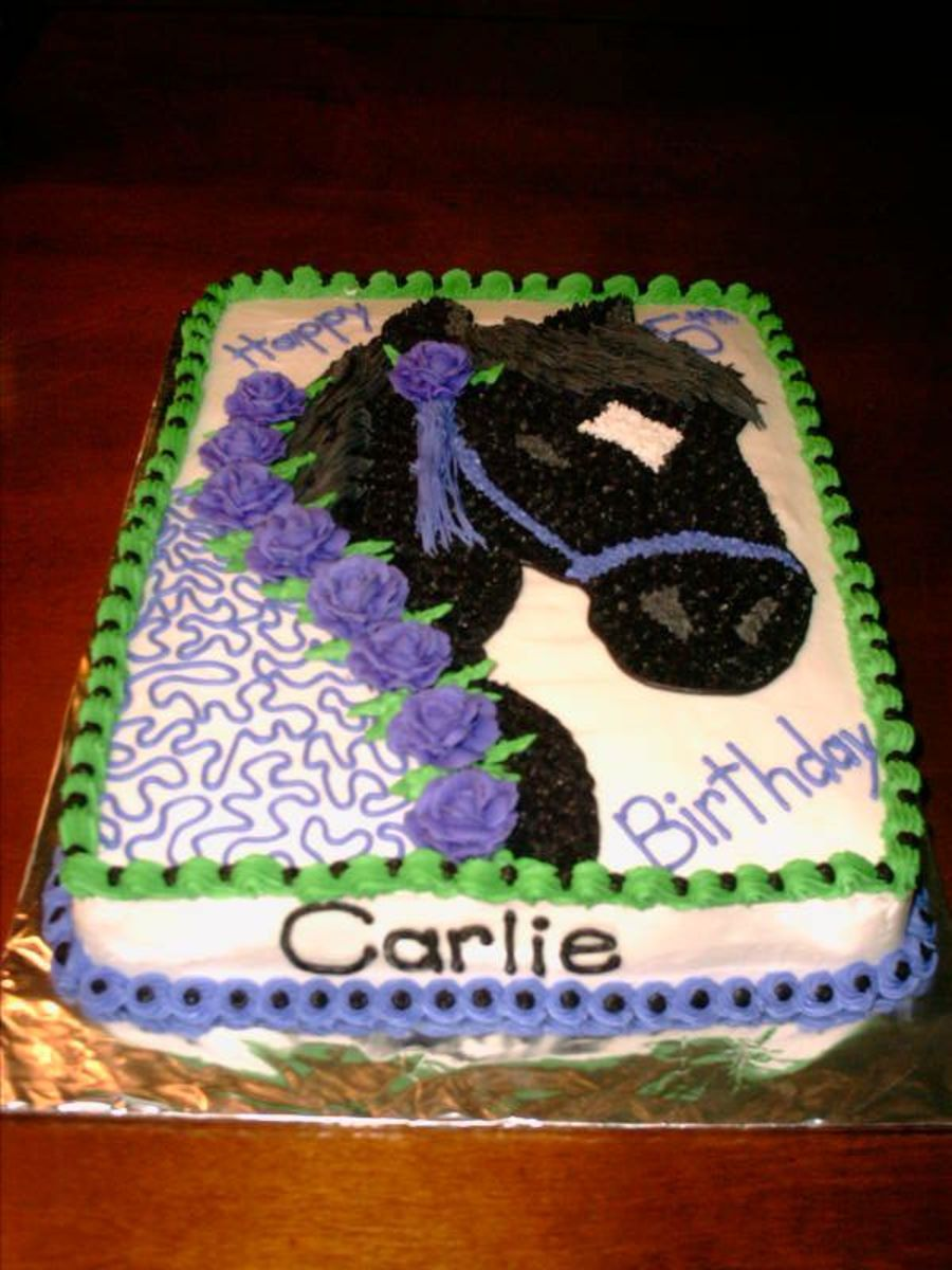 Black Beauty Horse Birthday Cake Cakecentral Com