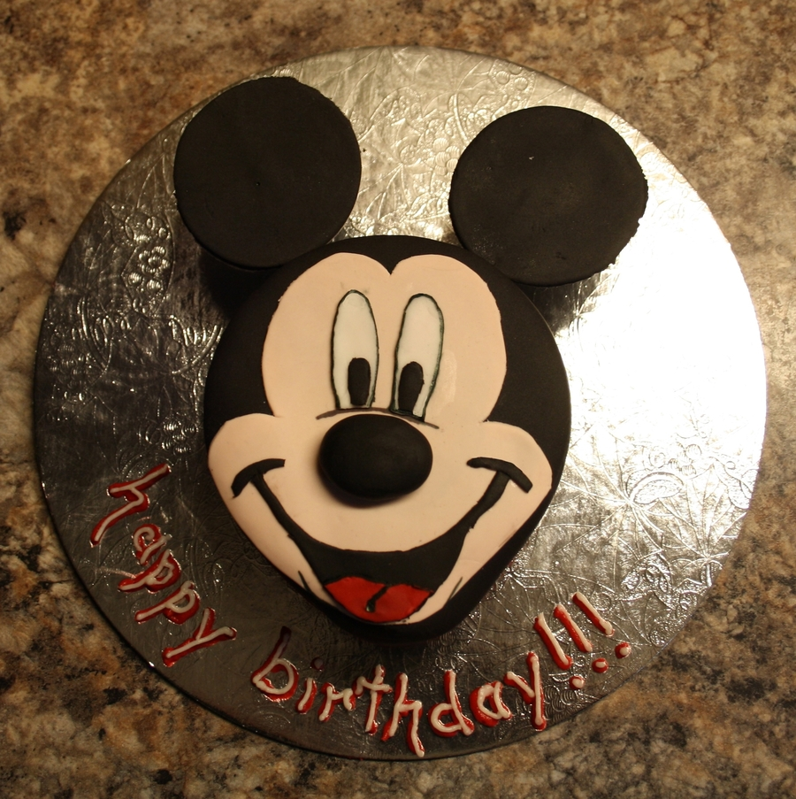 Mickey Mouse Face Cake on Cake Central