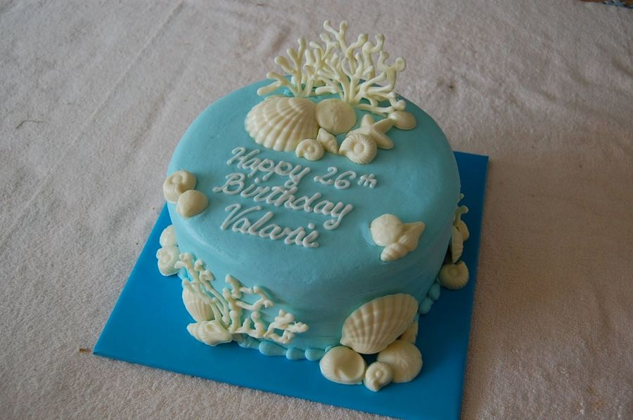 Ocean Theme Birthday Cake On Central