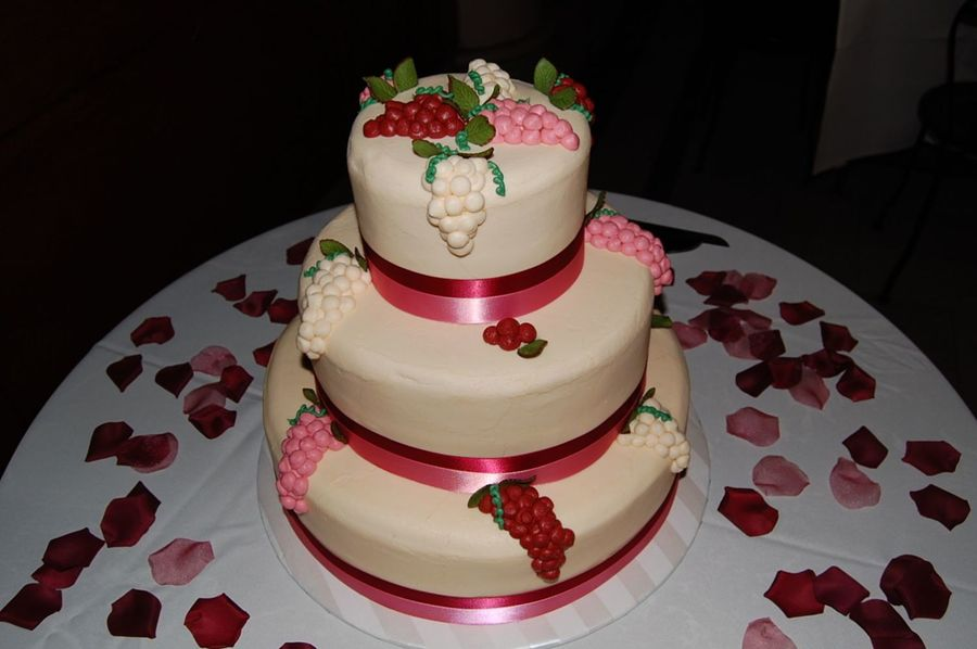 Grapes/berries Wedding Cake on Cake Central