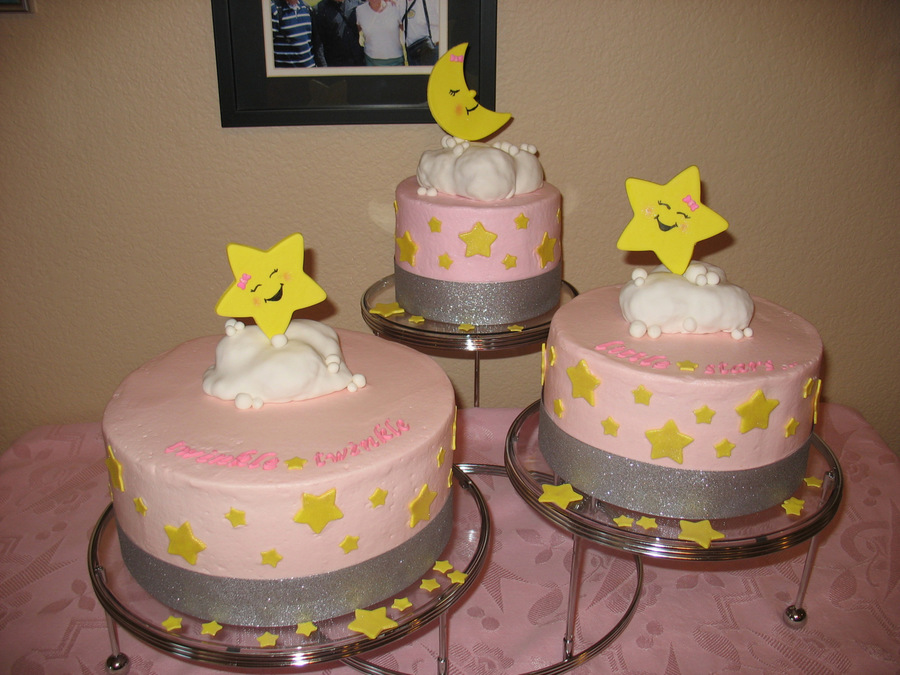 Twinkle Sprinkle Cake Decoration Edible Marker : Twinkle Little Star Cakes For Twin Girls Top Cake Is Vegan ...