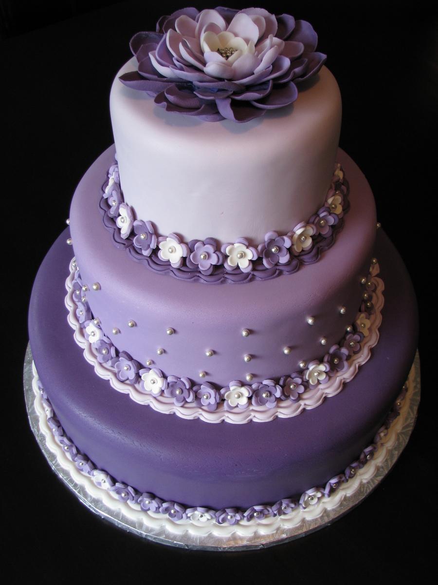 Magenta Wedding Cake