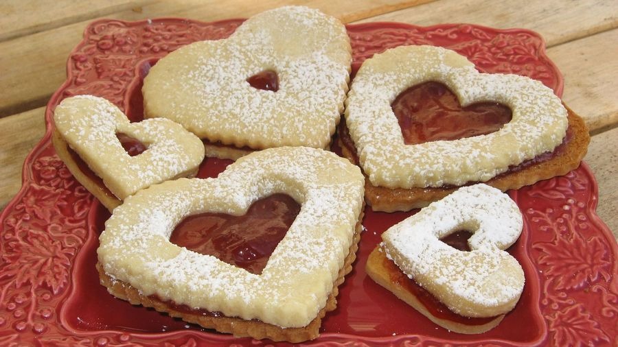 Heart Linzer Cookies on Cake Central