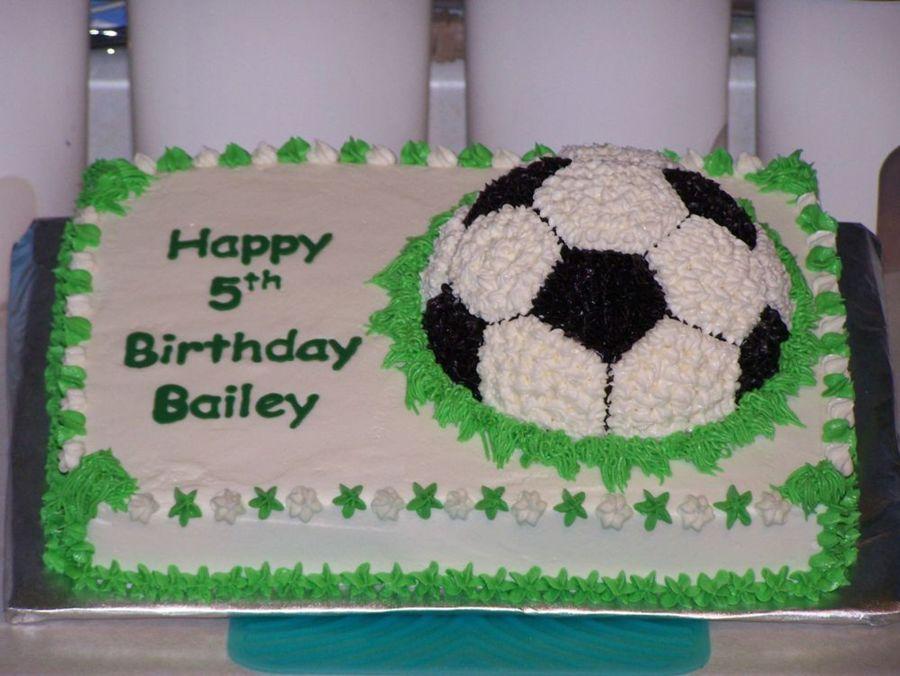 Bailey S Soccer Ball Cake Cakecentral Com
