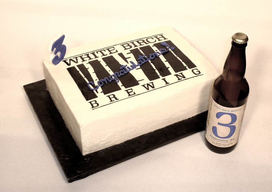White Birch Brewery Turns 3! on Cake Central