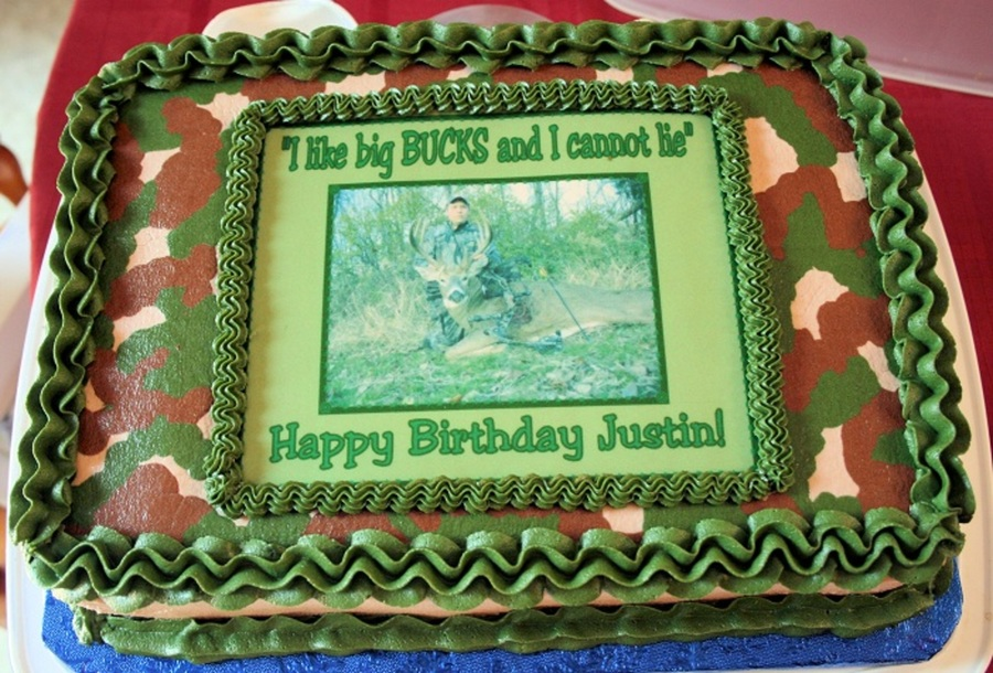 Camouflage Birthday Cake  on Cake Central