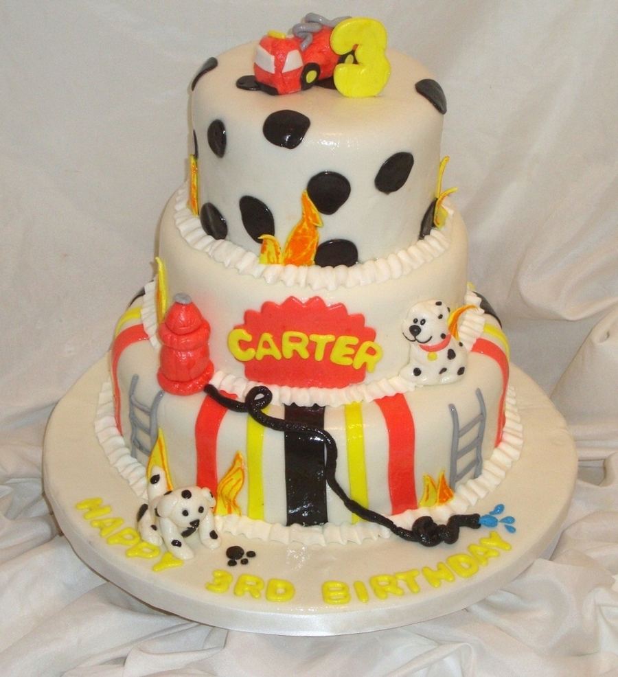 Fire Fighting Cake  on Cake Central