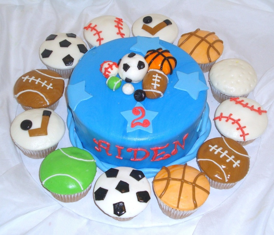 Sports Cake And Cupcakes  on Cake Central