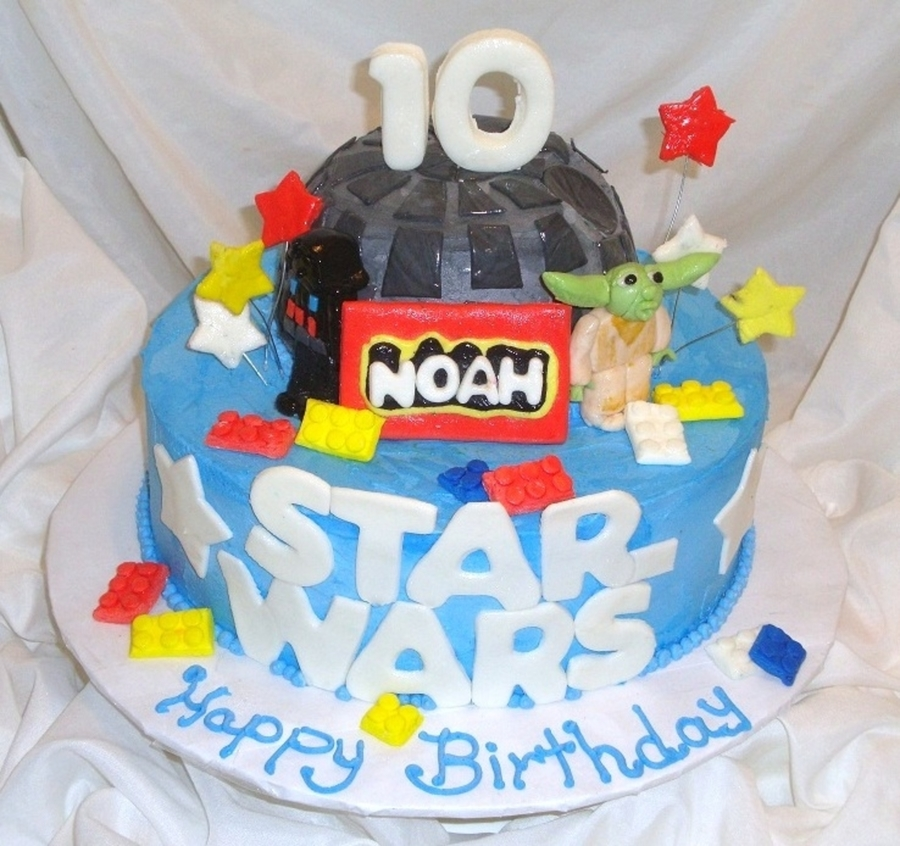 Lego Star Wars 2 Tier on Cake Central