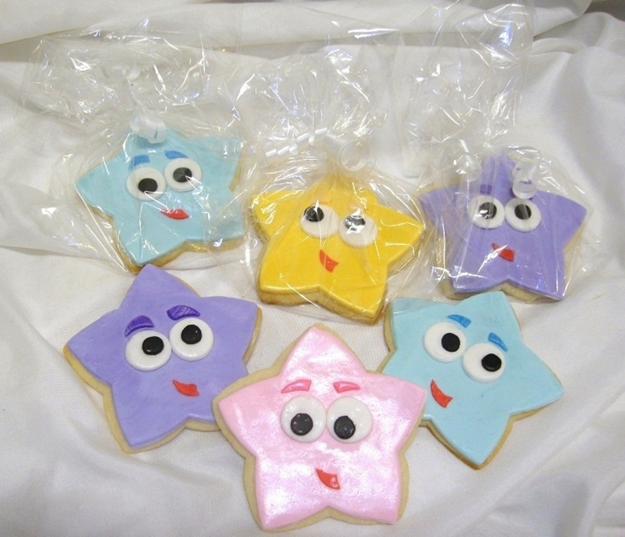 Dora Star Cookies  on Cake Central