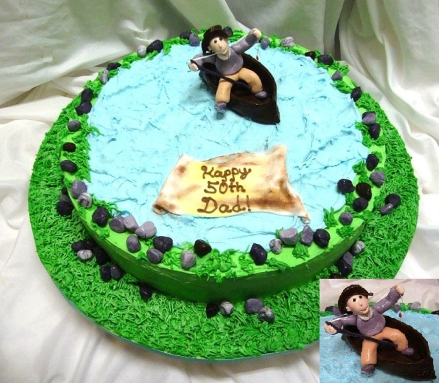 Crazy Fisherman 50Th Birthday Cake on Cake Central