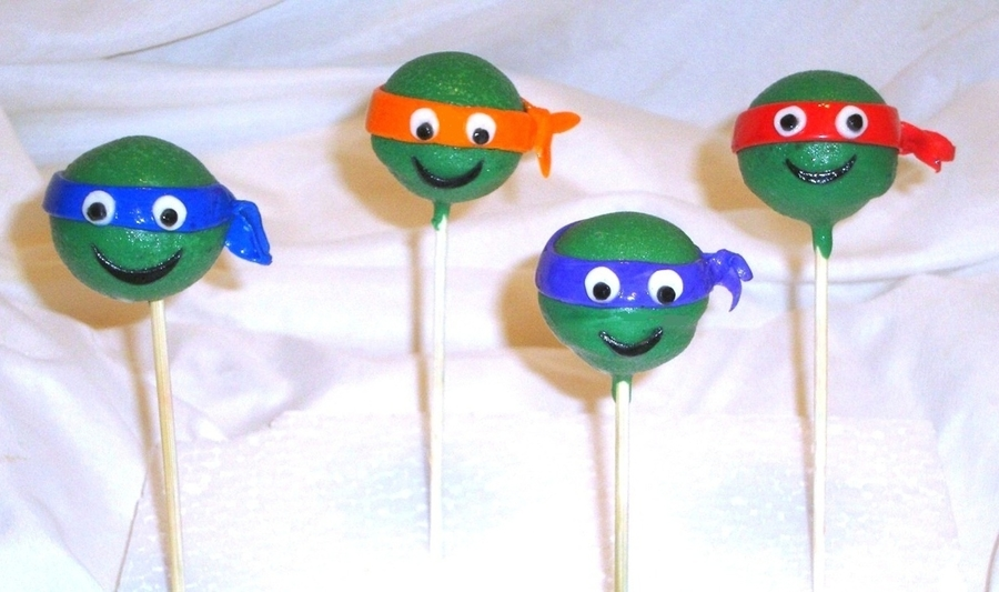 Ninja Turtles Cake Pops on Cake Central