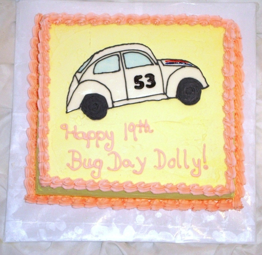 Herbie The Love Bug Cake on Cake Central