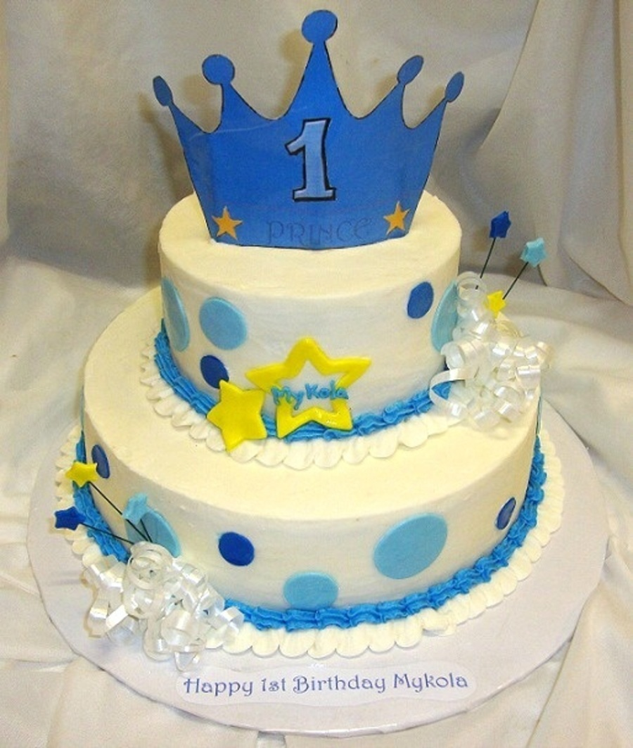 Cool Prince 1St Birthday Cake Cakecentral Com Personalised Birthday Cards Bromeletsinfo