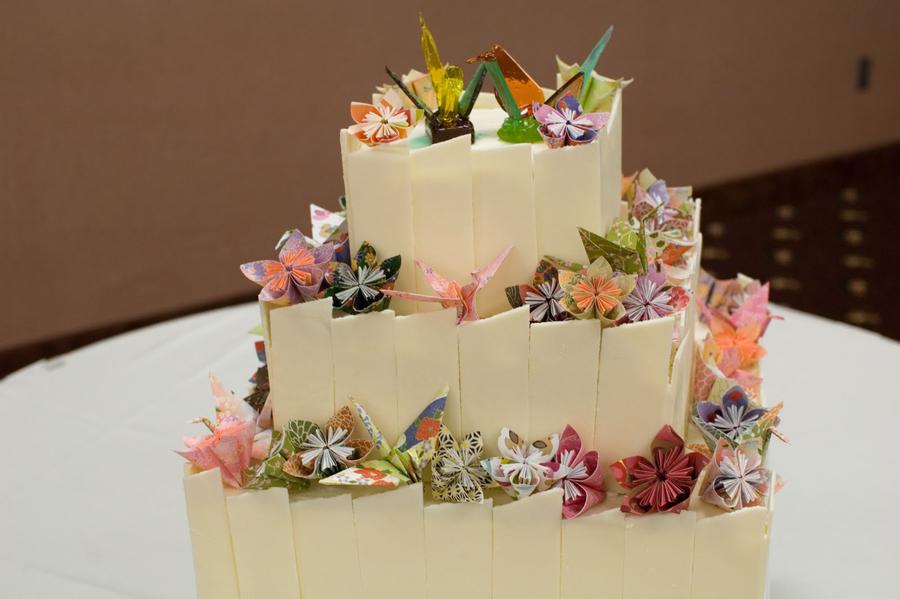 origami wedding cake cakecentralcom