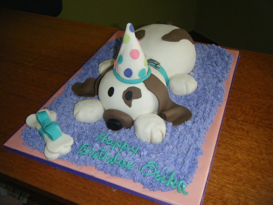Erika's Puppy Cake on Cake Central