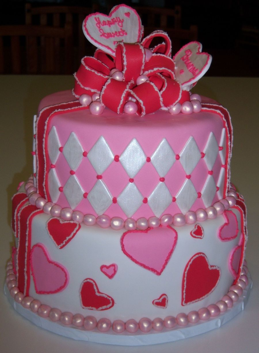Valentine Sweet Sixteen on Cake Central